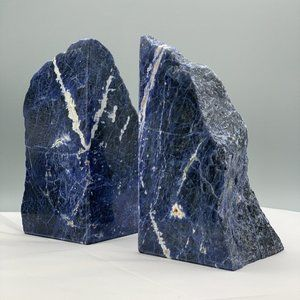 Sodalite Bookends, Natural Home Decor, Accents for